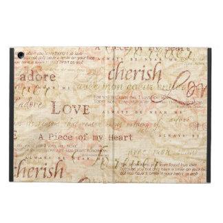 Love Script Cherish Adore Forever iPad Air Case