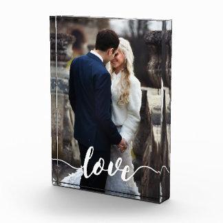 Love Script Overlay Photo Photo Block