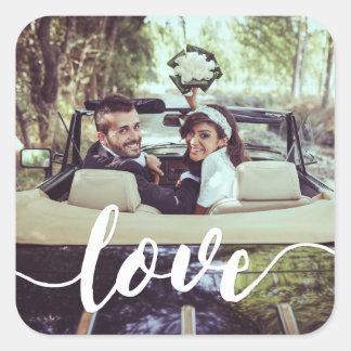 Love Script Overlay Photo Square Sticker