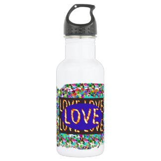 LOVE script :  Romantic Expression 18oz Water Bottle