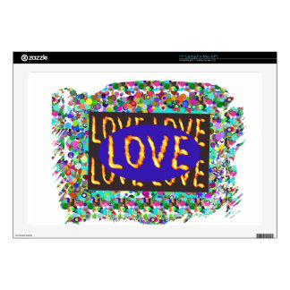 LOVE script :  Romantic Expression Skins For Laptops