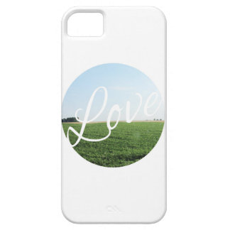 Love Script Typography with Nature Photography iPhone SE/5/5s Case