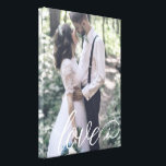 """Love Script Wedding Canvas<br><div class=""""desc"""">Showcase your favorite wedding photo with a lovely script or give this as a wedding gift!</div>"""