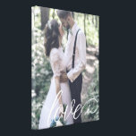 "Love Script Wedding Canvas<br><div class=""desc"">Showcase your favorite wedding photo with a lovely script or give this as a wedding gift!</div>"