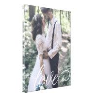 Love Script Wedding Canvas
