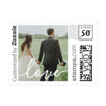 Love Script Wedding Photo PhotoStamp by Stamps.com