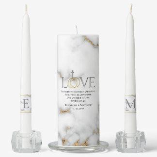 Love Scripture Verse Ephesians 4:2 Wedding Unity Candle Set