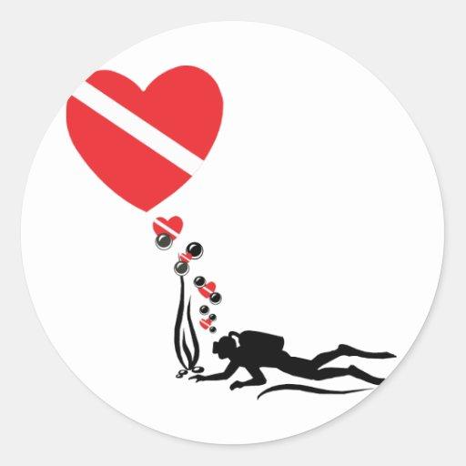 Love SCUBA Classic Round Sticker