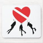 Love SCUBA Diving Mousepads
