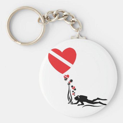 Love SCUBA Key Chain