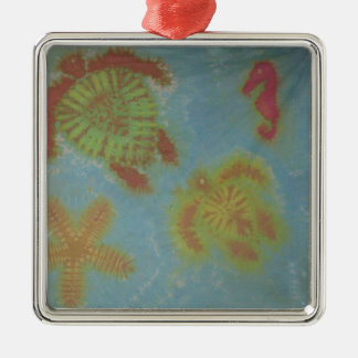 Love Sea Creatures Phat Dyes Tie Dyes Metal Ornament