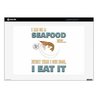 """Love Seafood - Screw Dieting - See Food Eat Food 15"""" Laptop Skin"""
