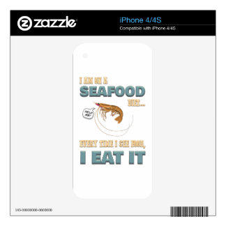 Love Seafood - Screw Dieting - See Food Eat Food Decals For iPhone 4