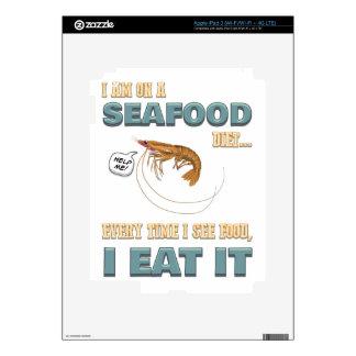 Love Seafood - Screw Dieting - See Food Eat Food iPad 3 Skin