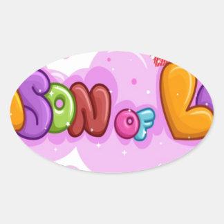 love season oval sticker