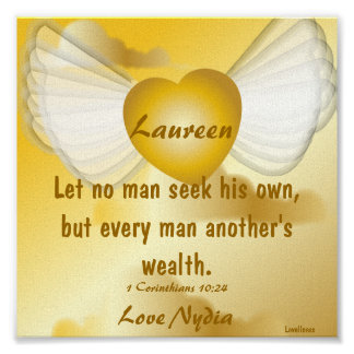 Love Seek Another's Wealth Poster-Customize