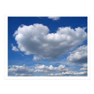 Love send - heart cloud away postcard