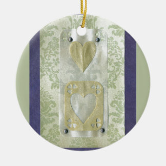 Love  Series  Collage - Heart # 12 Double-Sided Ceramic Round Christmas Ornament