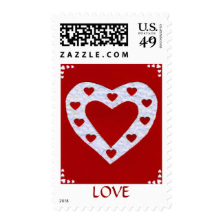 Love  Series  Collage - Heart # 13 Postage Stamp