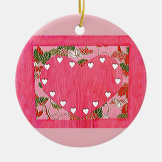 Love  Series  Collage - Heart # 14 Double-Sided Ceramic Round Christmas Ornament