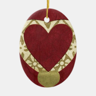 Love  Series  Collage - Heart # 17 Double-Sided Oval Ceramic Christmas Ornament