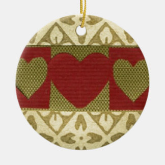 Love  Series  Collage - Heart # 18 Double-Sided Ceramic Round Christmas Ornament