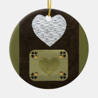 Love  Series  Collage - Heart # 1 Double-Sided Ceramic Round Christmas Ornament