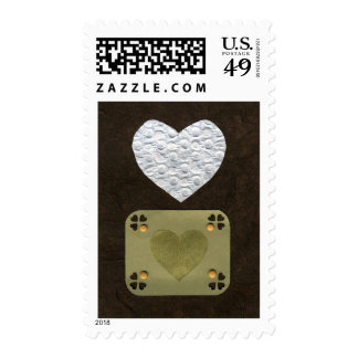 Love  Series  Collage - Heart # 1 Postage