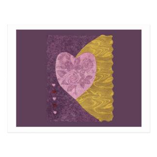 Love  Series  Collage - Heart # 21 Postcard