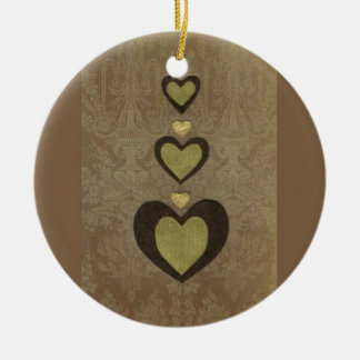 Love  Series  Collage - Heart # 28 Double-Sided Ceramic Round Christmas Ornament