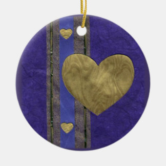 Love  Series  Collage - Heart # 29 Double-Sided Ceramic Round Christmas Ornament