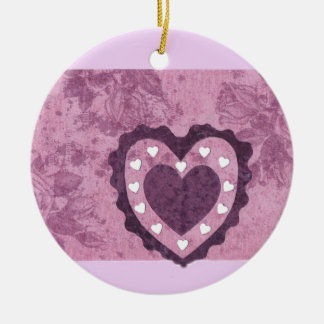 Love  Series  Collage - Heart # 2 Double-Sided Ceramic Round Christmas Ornament
