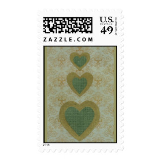 Love Series Collage  Heart  # 30 - Postage