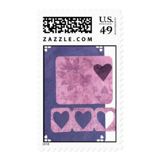 Love Series Collage Heart # 33 Stamps