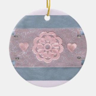Love  Series  Collage - Heart # 3 Double-Sided Ceramic Round Christmas Ornament