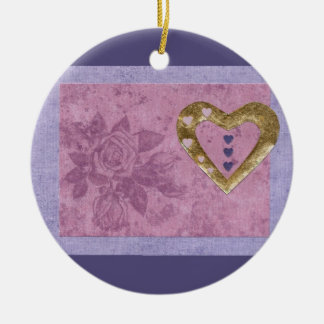 Love  Series  Collage - Heart # 41 Double-Sided Ceramic Round Christmas Ornament