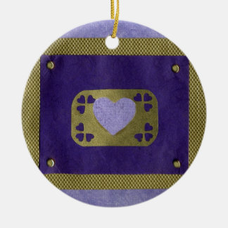 Love  Series  Collage - Heart # 4 Double-Sided Ceramic Round Christmas Ornament