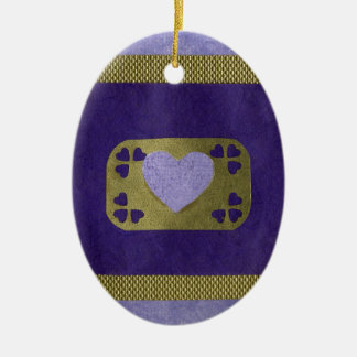 Love  Series  Collage - Heart # 4 Double-Sided Oval Ceramic Christmas Ornament