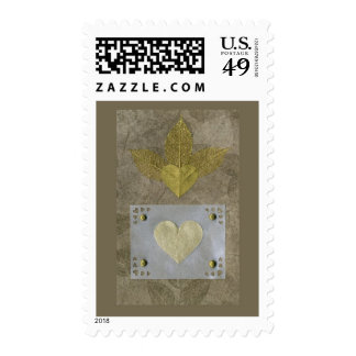 Love  Series  Collage - Heart # 50 Postage Stamp