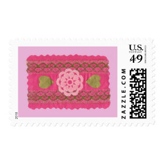 Love  Series  Collage - Heart # 5 Postage Stamp