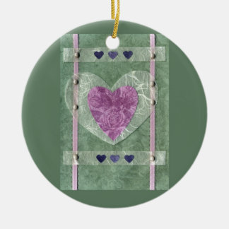 Love  Series  Collage - Heart # 68 Double-Sided Ceramic Round Christmas Ornament