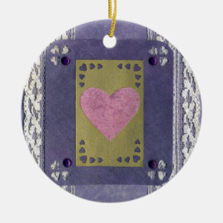 Love  Series  Collage - Heart # 7 Double-Sided Ceramic Round Christmas Ornament