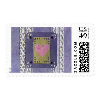 Love  Series  Collage - Heart # 7 Postage