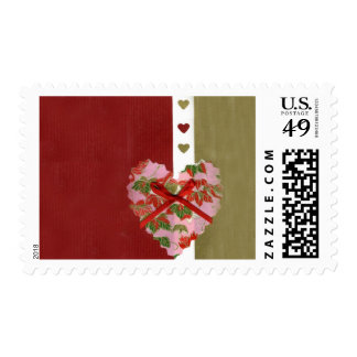 Love  Series  Collage - Heart # 9 Postage