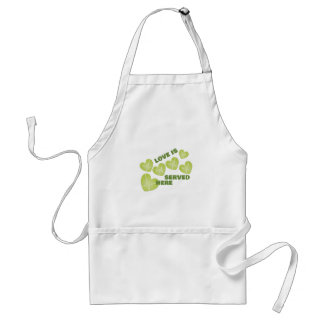 Love Served Adult Apron