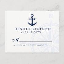 Love Sets Sail Anchor Nautical Wedding RSVP