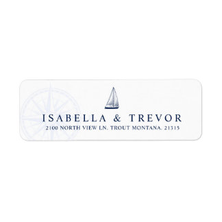 Love Sets Sail Nautical  | Return Address Label