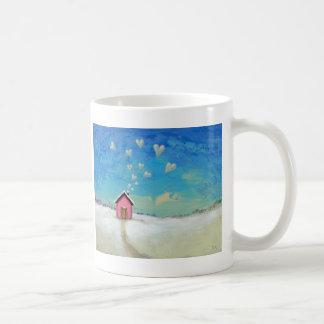 Love shack cabin fun romantic art Staying Warm Coffee Mug
