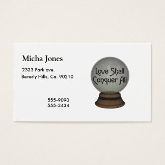 Love Shall Conquer All Globe Business Card