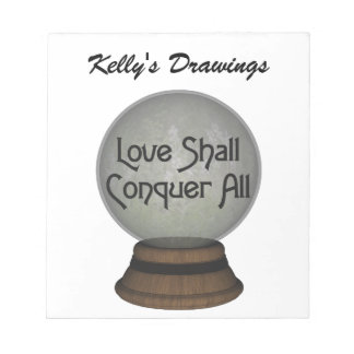 Love Shall Conquer All Globe Notepad